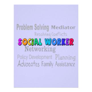 Social Worker Professional Duties Design Letterhead