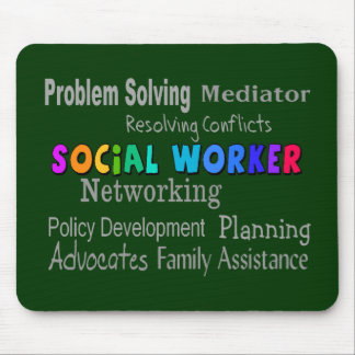 Social Worker Professional Duties Design Mouse Pad