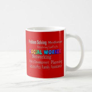 Social Worker Professional Duties Design Mugs