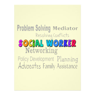 Social Worker Professional Duties Design Personalized Flyer