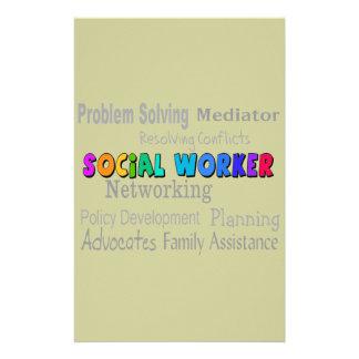 Social Worker Professional Duties Design Stationery Design