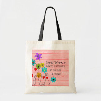 Social Worker Quote Floral Design