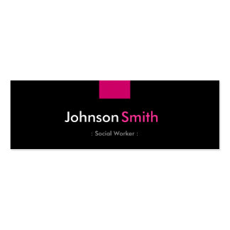 Social Worker - Rose Pink Compact Pack Of Skinny Business Cards