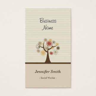 Social Worker - Stylish Natural Theme Business Card