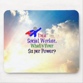 Social Worker Super Hero Mouse Pad