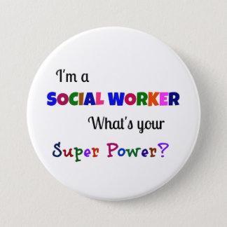Social Worker Super Power 3 Inch Round Button