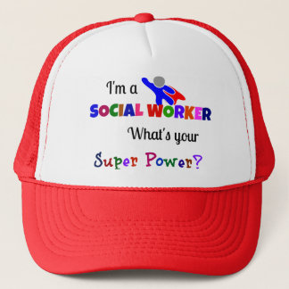 Social Worker Super Power Trucker Hat