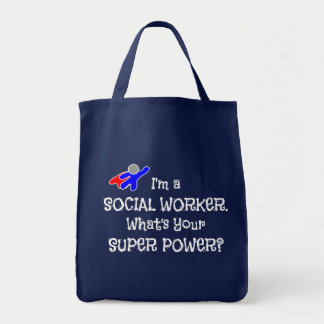 Social Worker Superhero Custom Design Tote Bag