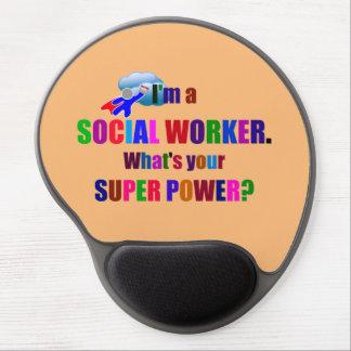 Social Worker Superhero Humor Gel Mouse Pad