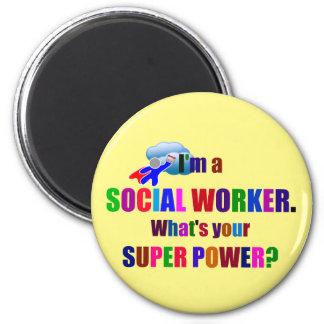 Social Worker Superhero Humor Magnet
