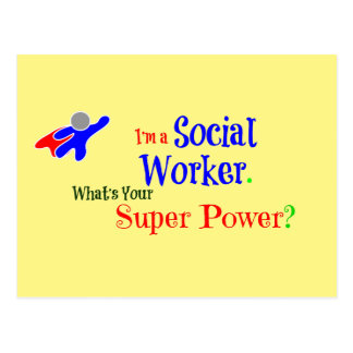 Social Worker Superhero Postcard