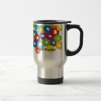 Social Worker Travel Mug Abstract Art