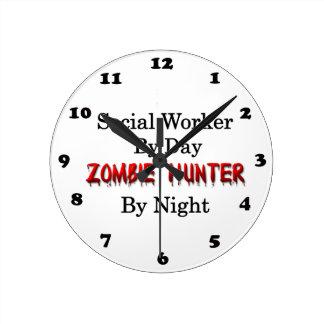 Social Worker/Zombie Hunter Wall Clock