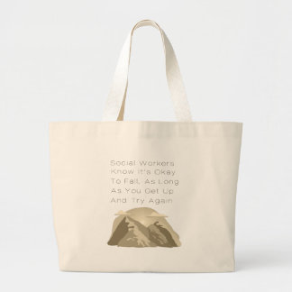 Social Workers Know Motivational Large Tote Bag