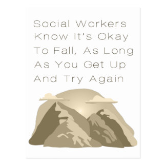 Social Workers Know Motivational Postcard