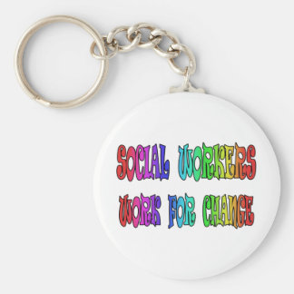 Social Workers Work For Change Keychain