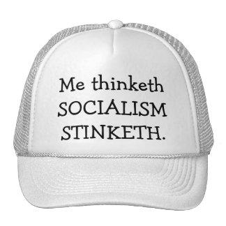 SOCIALISM STINKETH TRUCKER HAT