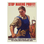 Socialism - Stop Making Profit: Protest Poster