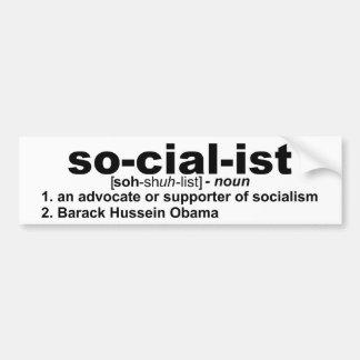 socialist definition bumper sticker