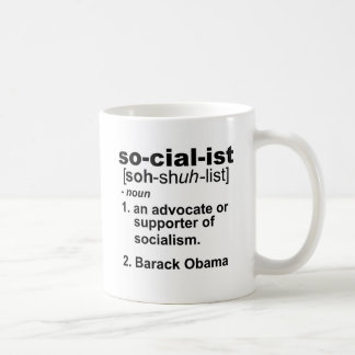 socialist definition coffee mug