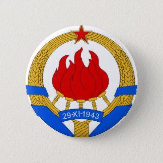 Socialist Federal Republic of Yugoslavia Emblem 2 Inch Round Button
