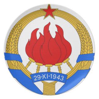 Socialist Federal Republic of Yugoslavia Emblem Dinner Plates