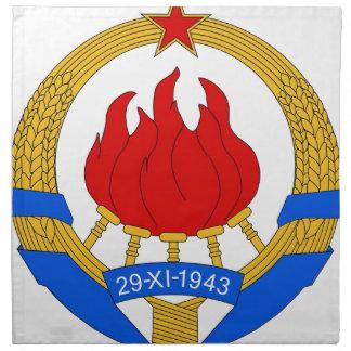 Socialist Federal Republic of Yugoslavia Emblem Napkin