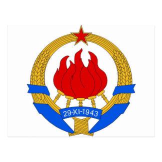 Socialist Federal Republic of Yugoslavia Emblem Postcard
