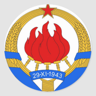 Socialist Federal Republic of Yugoslavia Emblem Round Sticker