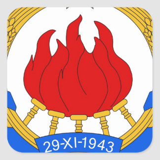 Socialist Federal Republic of Yugoslavia Emblem Square Sticker