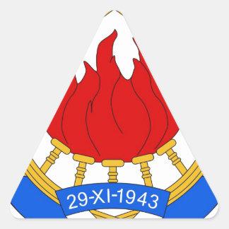 Socialist Federal Republic of Yugoslavia Emblem Triangle Sticker