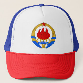 Socialist Federal Republic of Yugoslavia Emblem Trucker Hat