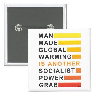 Socialist Power Grab 2 Inch Square Button