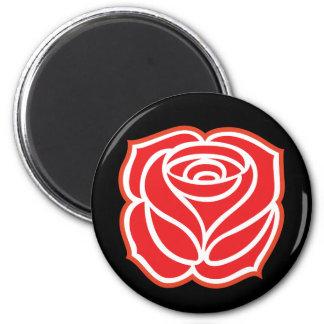 Socialist Rose Magnet