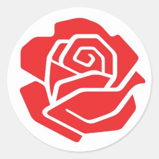 Socialist Rose Sticker