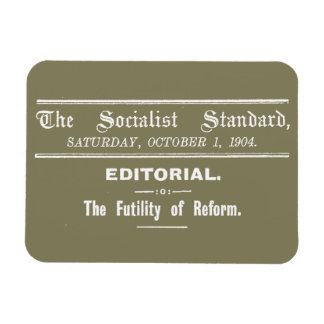 Socialist Standard 1904 October Editorial beige Rectangular Photo Magnet