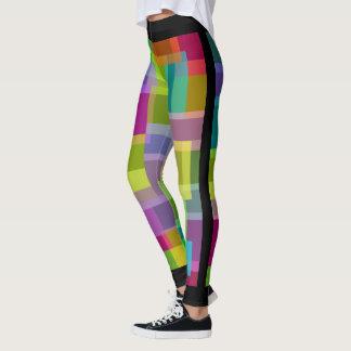 Socialite Colorful Rectangels Leggings