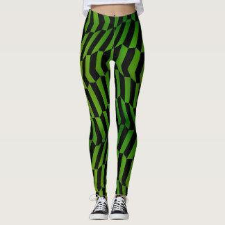 Socialite Wild and Sassy Green Pattern Leggings