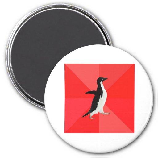 Socially Awesome Penguin Advice Animal Meme Fridge Magnet