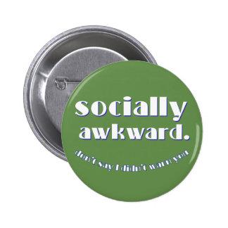 socially awkward 2 inch round button