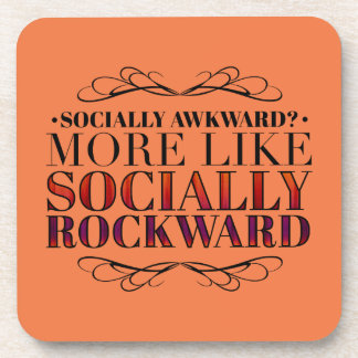 Socially awkward? beverage coasters