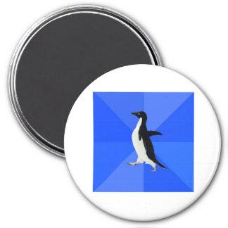 Socially Awkward Penguin Advice Animal Meme 3 Inch Round Magnet