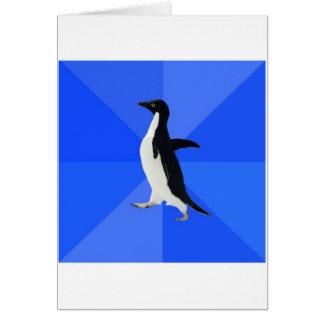 Socially Awkward Penguin Advice Animal Meme Greeting Card
