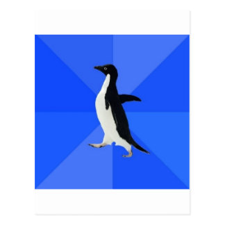 Socially Awkward Penguin Advice Animal Meme Postcard
