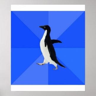 Socially Awkward Penguin Advice Animal Meme Poster