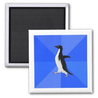 Socially Awkward Penguin Advice Animal Meme Square Magnet