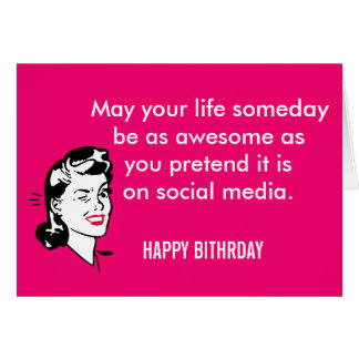 SocialMedia Birthday Girl Card