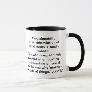 #socialmuddite black and white mug