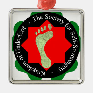 Society of Self-Sovereignty Silver-Colored Square Ornament