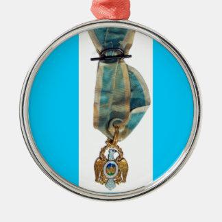Society of the Cincinnati badge Silver-Colored Round Ornament